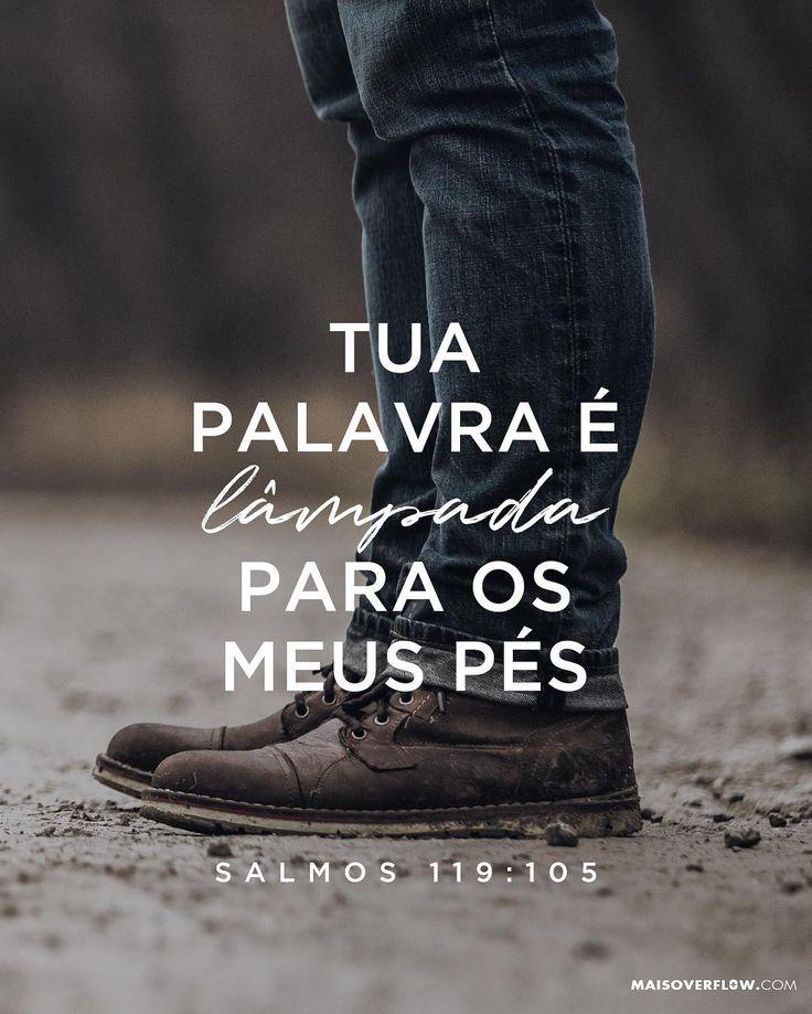 """""""Tua palavra é lâmpada para meus pés e luz para meu caminho."""" Salmos 119:105  #30DaysOfBibleLettering () maisoverflow.com  X"""