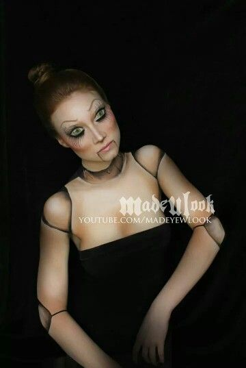 Ventriloquist doll costume makeup