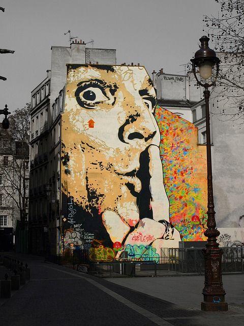 Salvador Dalí, Graffiti, Muur, Kunst, Portret, Parijs