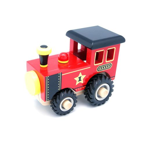 Wooden Train with Rubber Wheels. Great for interactive play and collection.