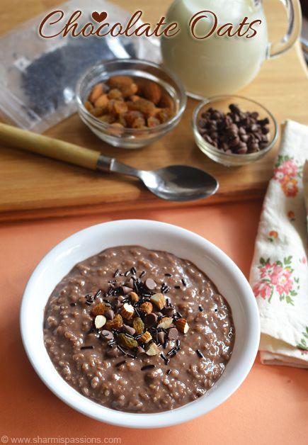 Chocolate Oats Recipe - Easy Oats Recipes | Sharmis Passions