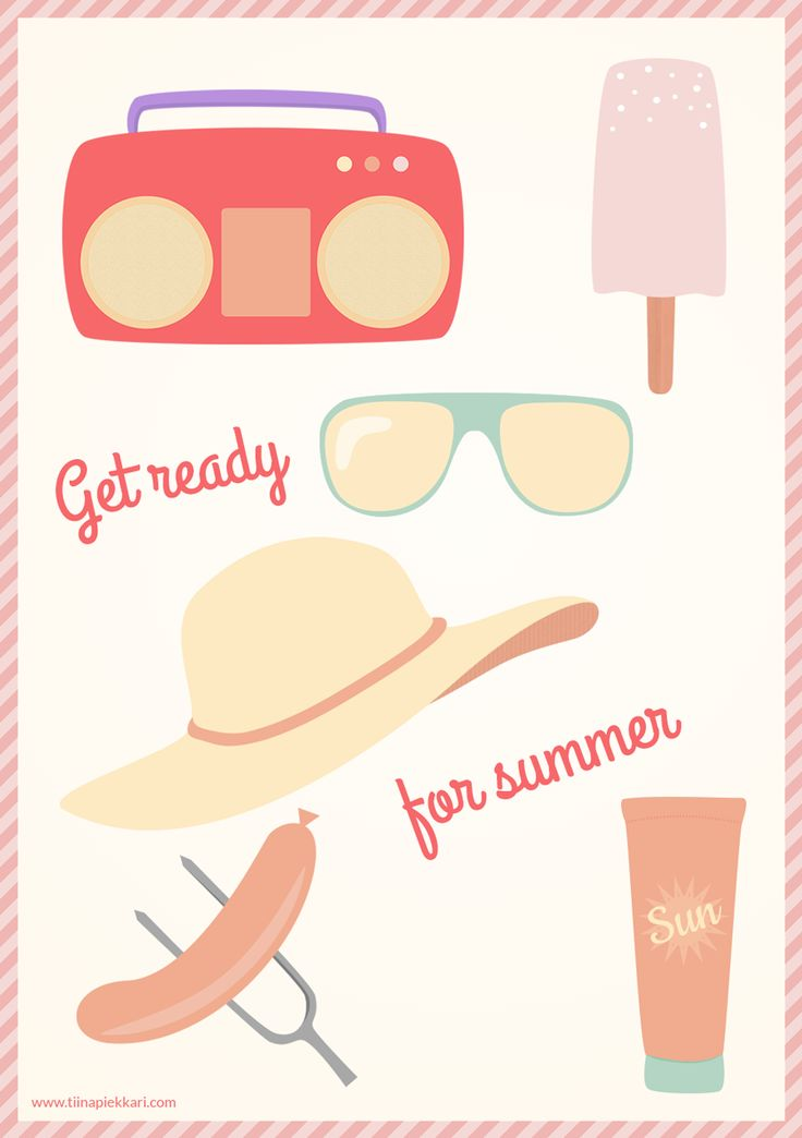 Get ready for summer! -illustration #summer #illustration #vectorillustration