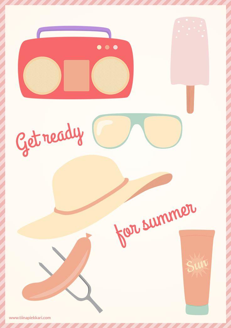 Get ready for summer! -illustration #summer #illustration #vectorillustration
