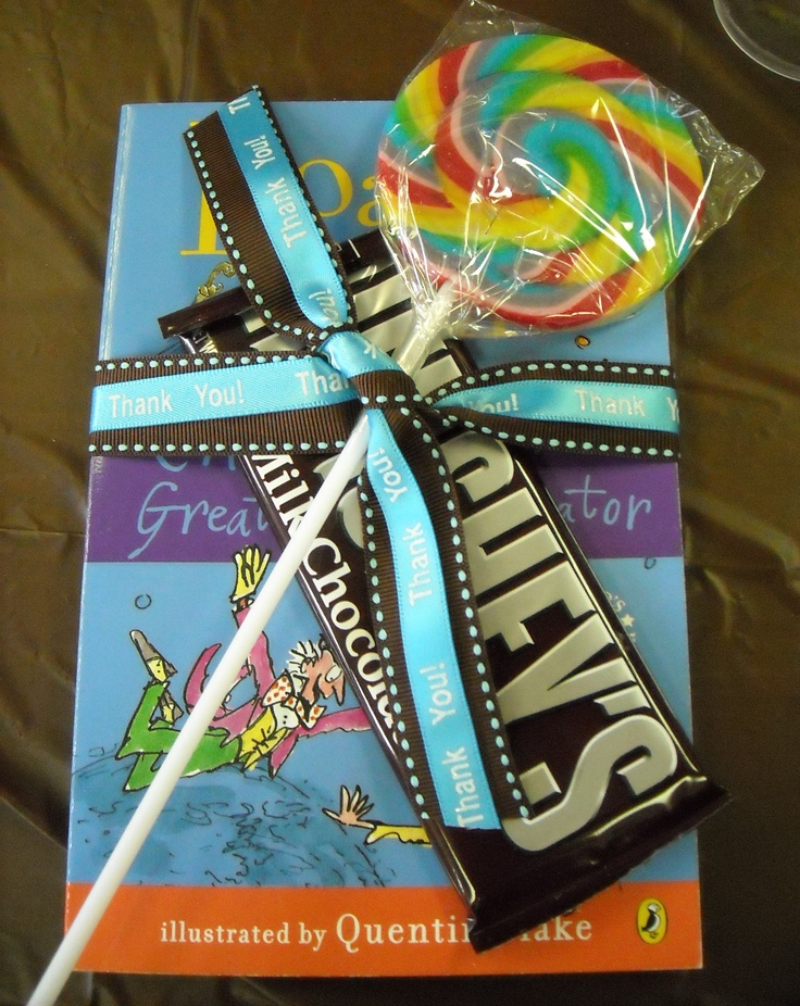 Willy Wonka Party Favors!  Found the books on Walmart.com for really cheap.