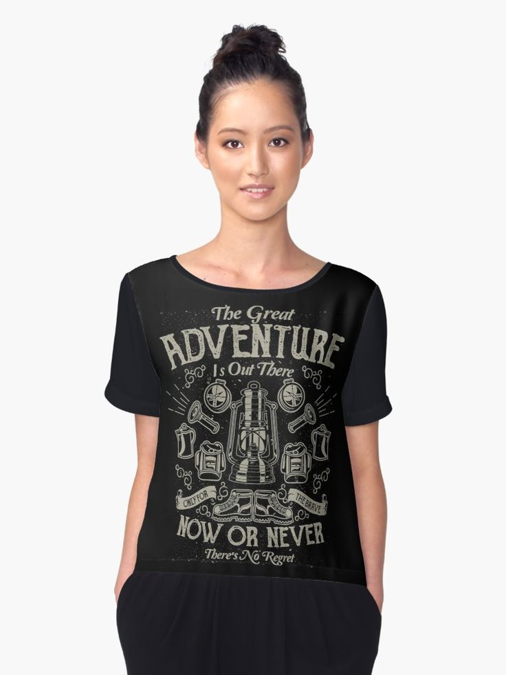 The Great Adventure is Out There / Only the brave / T-shirt design from Firman Syah with extended license. • Also buy this artwork on apparel, stickers, phone cases, and more.