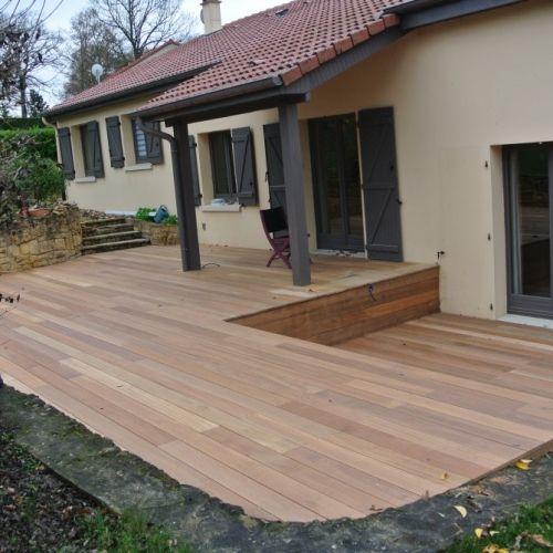 terrasse bois exotique point p diverses id es de conception de patio en bois pour. Black Bedroom Furniture Sets. Home Design Ideas