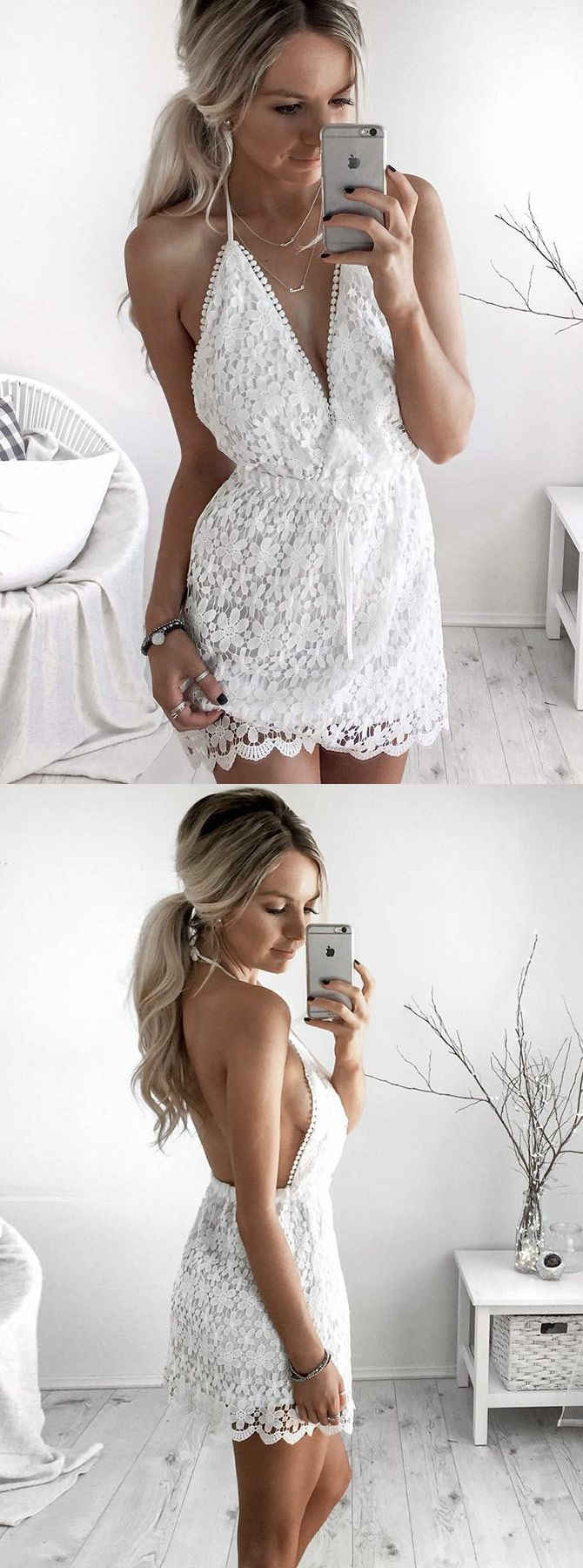 A Line Halter Backless Short White Lace Homecoming Cocktail Dress Lace Homecoming Dresses Backless Homecoming Dresses Homecoming Dresses [ 1800 x 670 Pixel ]