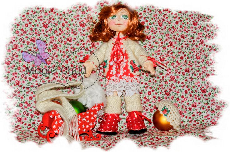 Colours of the Holiday (textile doll, 27cm)