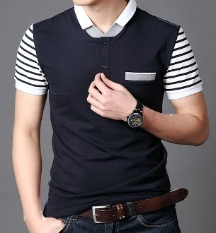 Men's Double Collar Polo Shirt