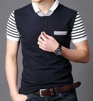 Men's Double Collar Polo Shirt