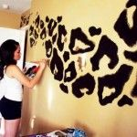 : cheetah print bedroom decor