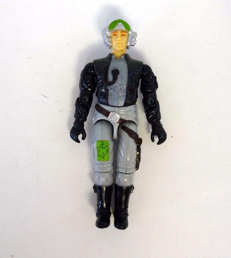 GI JOE GHOSTRIDER Vintage Action Figure Phantom Pilot 99% COMPLETE C9+ v1 1988 #Hasbro