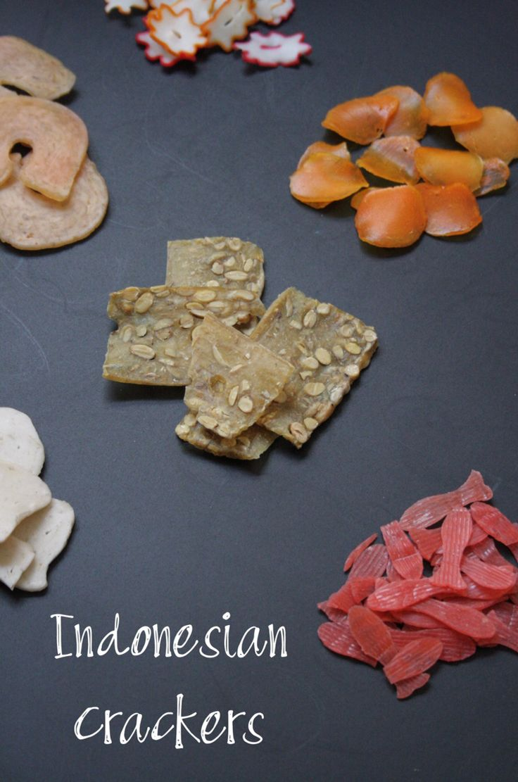 Indonesian crackers aka krupuk
