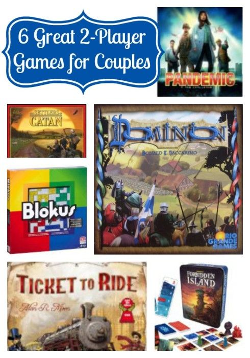 My husband & I love playing board games together, so I'm sharing our favorite 2-player games!