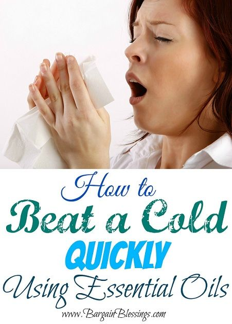 I am going to have to try this next time I get sick. Just four essential oils and the cold is GONE!