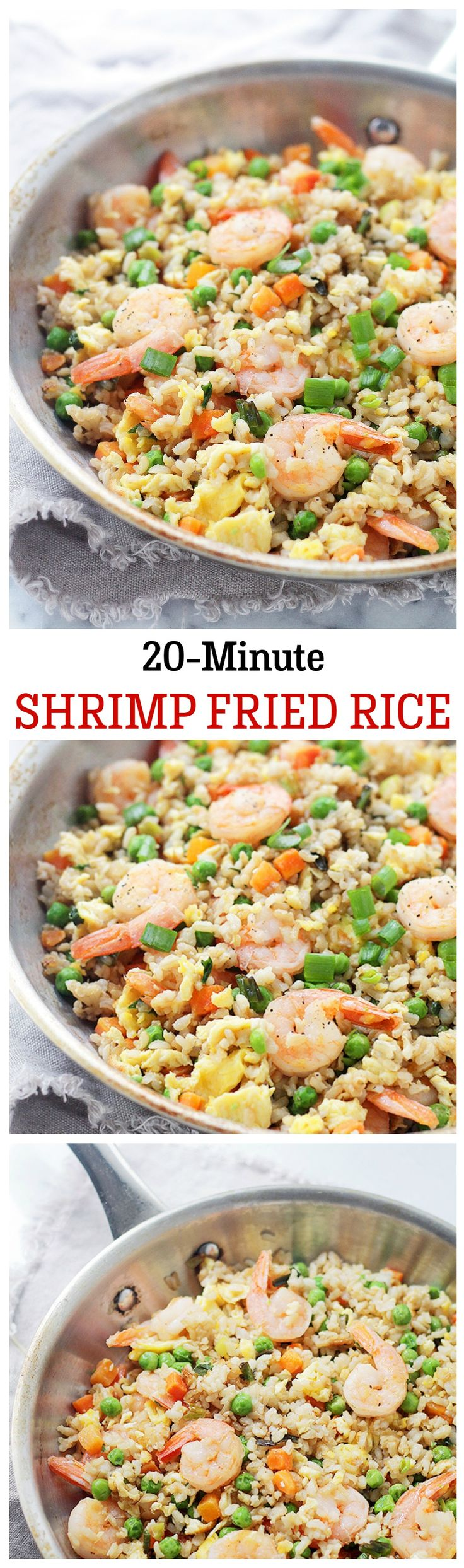 Loaded with shrimp, this Fried Rice is made with fragrant Basmati Rice and vegetables, and it only takes 20 minutes to make!