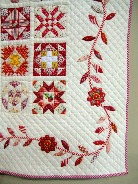 2012 Tokyo International Great Quilt Festival - Love the border, colors, applique, blocks - everything!