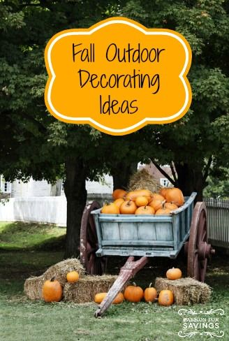 fall is such a pretty season and outdoor fall decorating can be so much fun here are some of my favorite outdoor decorating ideas - Fall Outside Decorations