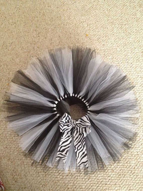 Zebra tutu black and white  by TutuFantasia on Etsy