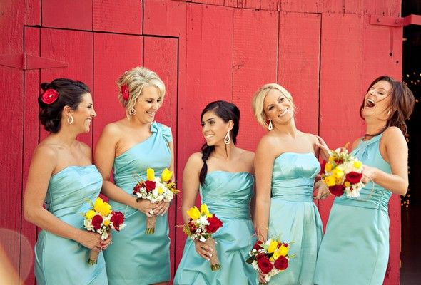 red and turquoise weddings | Aqua + Red Country Wedding | Engaged & Inspired
