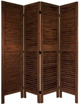 Lovely Amazon.com: Oriental Furniture Simple Louvered Door Room Divider, 5.5 Feet  Classic