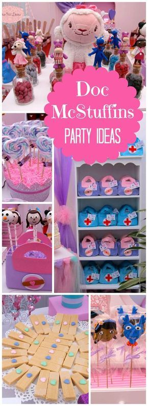 So many great ideas at this Doc McStuffins first birthday party!  See more party ideas at CatchMyParty.com!