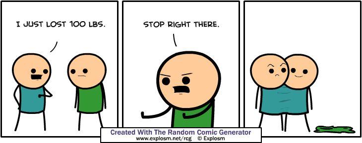 Cyanide & Happiness (Explosm.net) random comic generator!