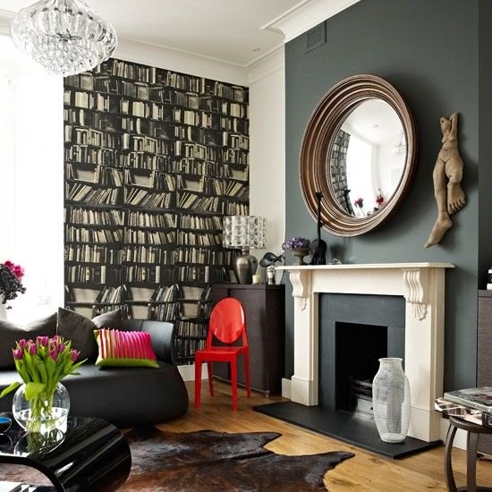 Dramatic modern living room | Dark living room designs | Livingetc | Housetohome