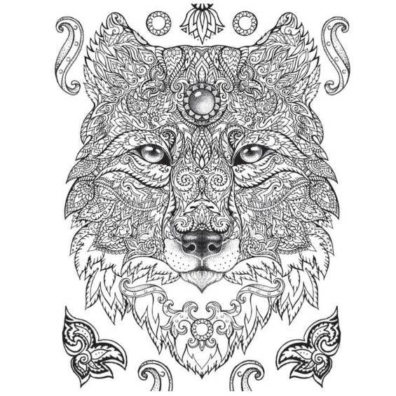 Mandalas De Lobos Para Colorear Nuevos Lobos Pintados Mandalas Animales Mandalas Para Colorear Mandalas Faciles