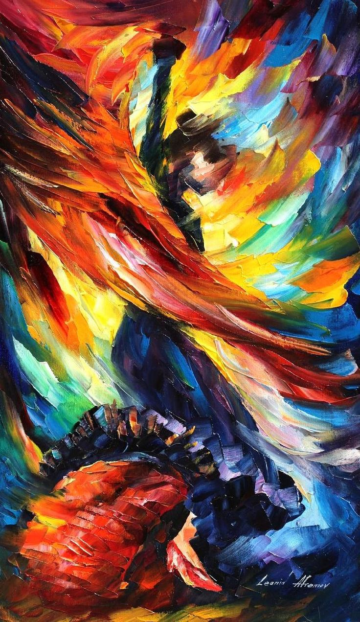 BEAUTIFUL DANCE — PALETTE KNIFE Oil Painting On Canvas | Art | Art, Painting, Oil painting on canvas