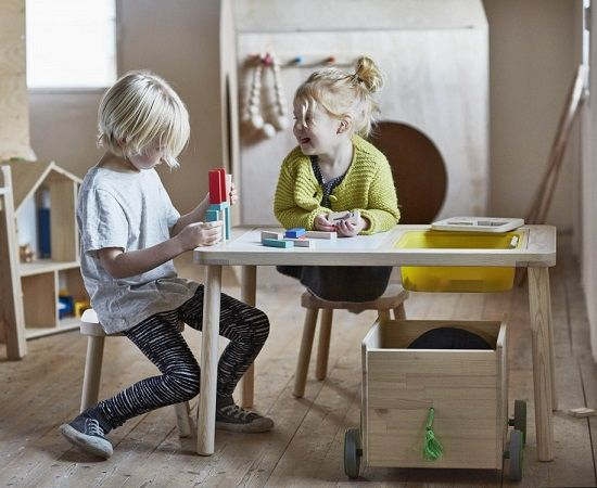 Flisat muebles de madera para ni os de ikea mamidecora - Ikea muebles infantiles ...