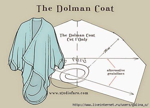 пальто пончо выкройка - Поиск в Google