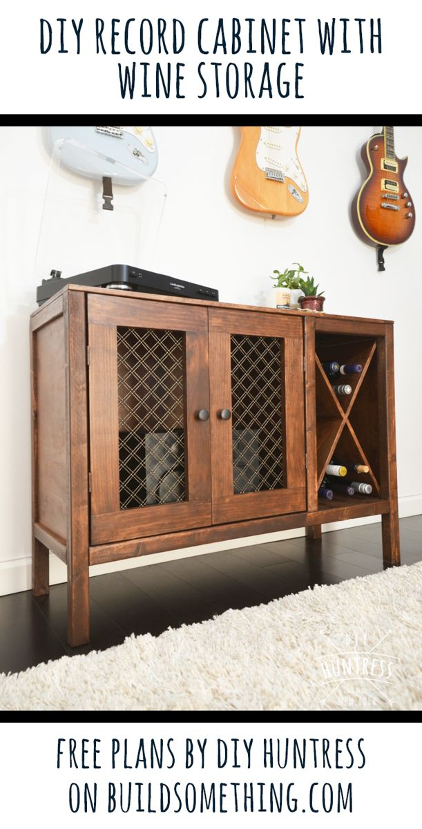 Sideboard record cabinet with wine storage!