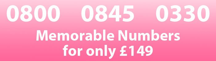 http://www.alphatalk.com/page/special_offer  Platinum memorable 0800 numbers, 0845 numbers and 03 numbers for only £149 each.