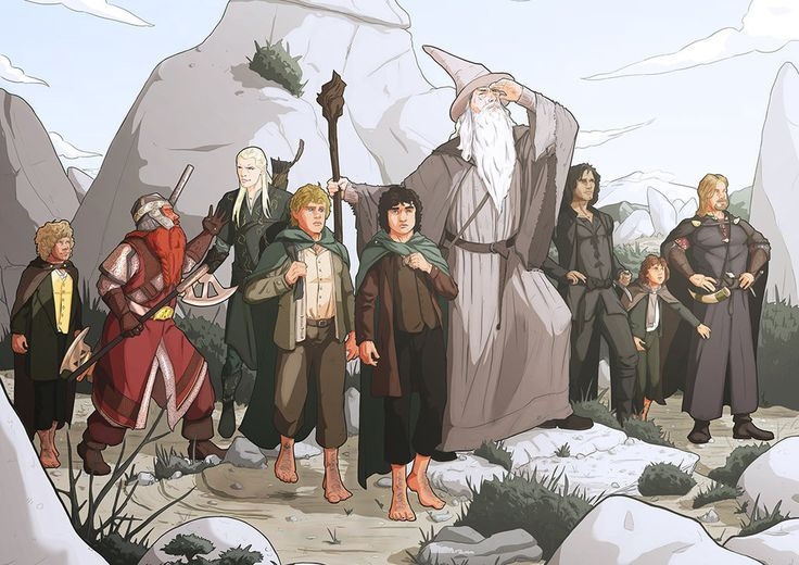 Братство кольца   Commission: The Lord of the rings by StefanoMarinetti