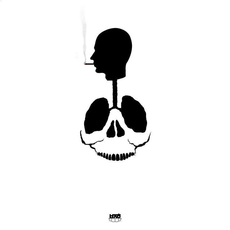 금연,담배,해골,글씨