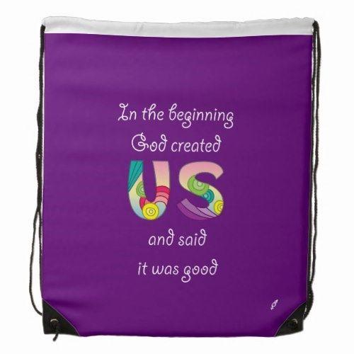 Created Us/White Drawstring Backpack | Zazzle.com – Back to school preschool