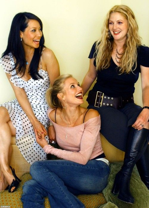 with Lucy Liu & Cameron Diaz in an outtake from USA Today in 2003