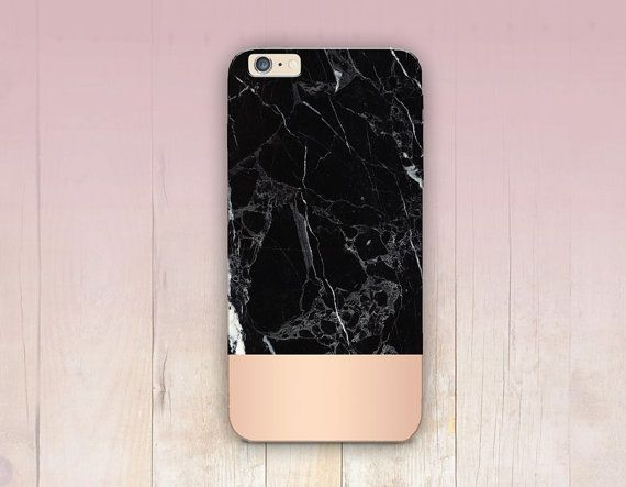 Impression de marbre rose Gold Phone Case iPhone 6 cas par CRCases