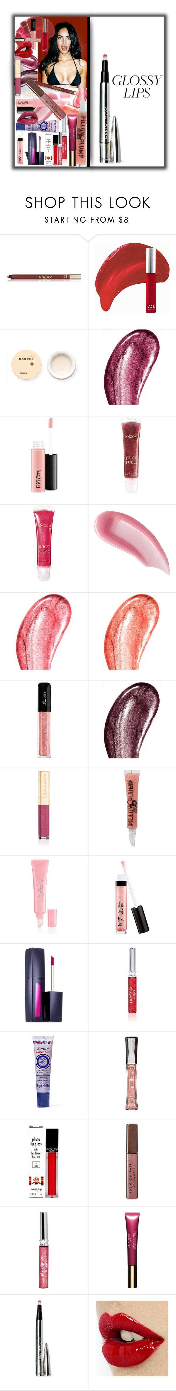 """Glossy Lips"" by alrdesign ❤ liked on Polyvore featuring beauty, Sisley, FACE Stockholm, Korres, Dolce&Gabbana, MAC Cosmetics, Lancôme, Smith & Cult, Chantecaille and Guerlain"