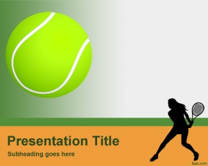 For those who want to create PowerPoint presentations about sports, this Tennis PowerPoint template may fit very well