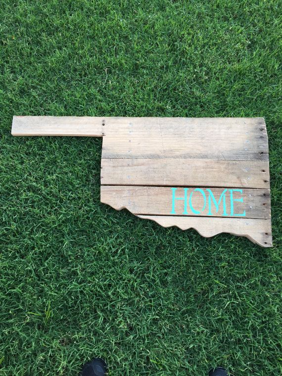 Oklahoma Pallet Wood Sign by twowivesshop on Etsy