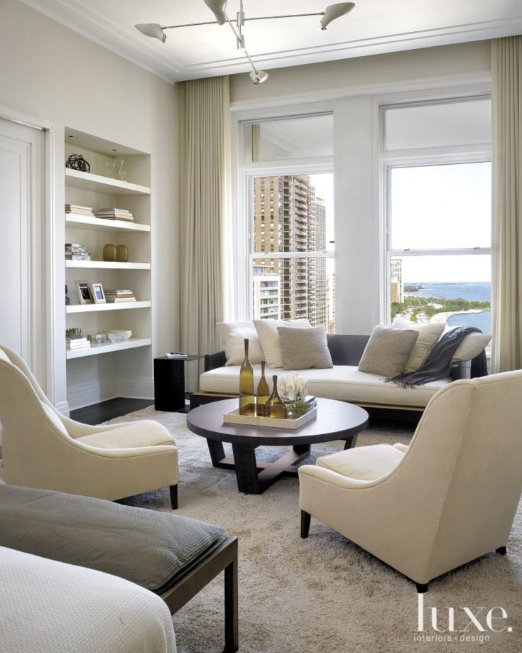 Modern Cream Sitting Area Luxe Seating Areas