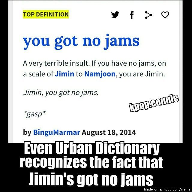 poor jimin even the urban dic knows lol | allkpop Meme Center