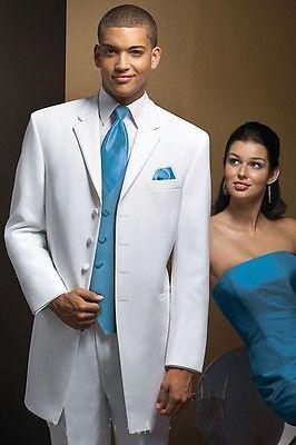 White New Tailcoat Groom (Jacket+Pants+Tie+Vest) custom Men Wedding Suits Tuxedo