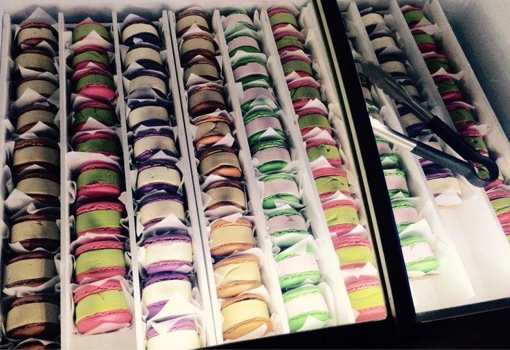 Gen Korean BBQ House - Rancho Cucamonga, CA, United States. Brick Macaron Ice Cream Sandwiches $3.25 each (Flavors: Green Tea, Vanilla, Cappuccino & Strawberry) - I LOVE these!!!