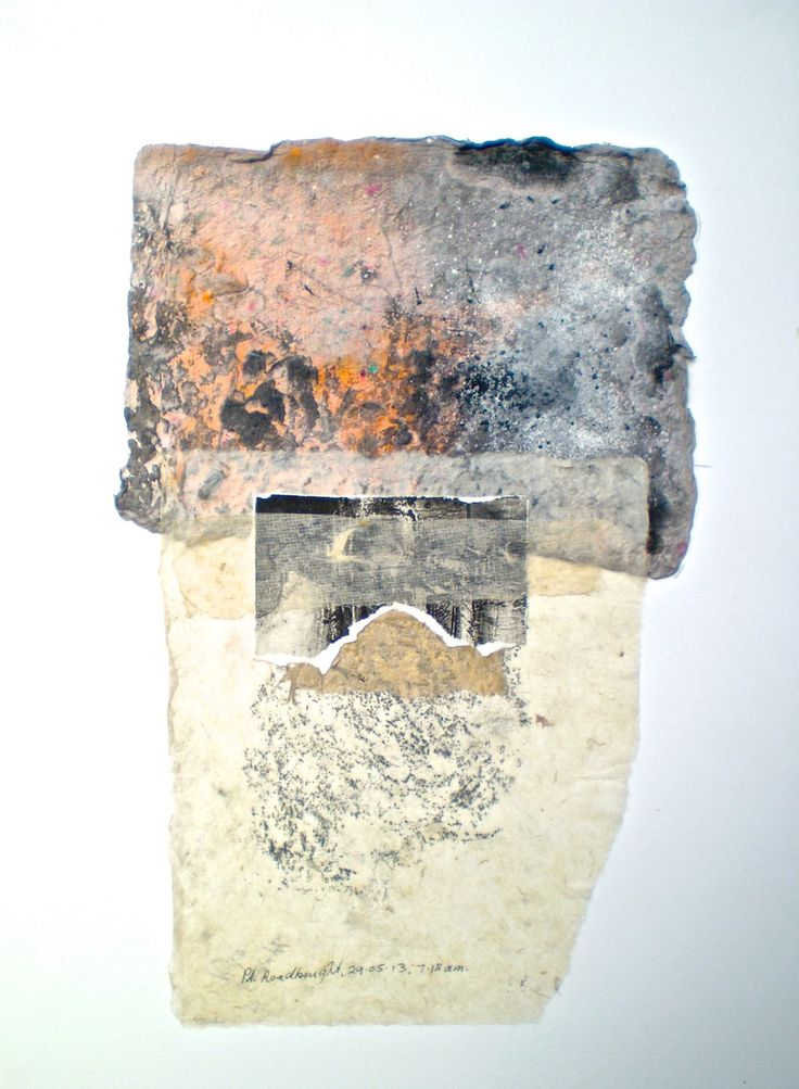ELAINE d'ESTERRE - 'Petrified Forest 2', 2014, etching, frottage and handmade paper on BFK Rives 60x40 cm by Elaine d'Esterre at www.elainedesterreart.com and http://www.facebook.com/elainedesterreart