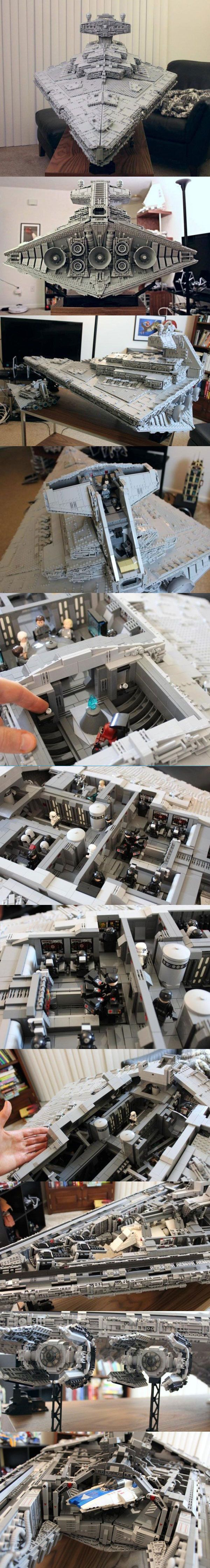 Check it out1 Custom LEGO Star Destroyer Has Three Interior Levels and Even Holds TIE Interceptors https://imgur.com/gallery/snxk3