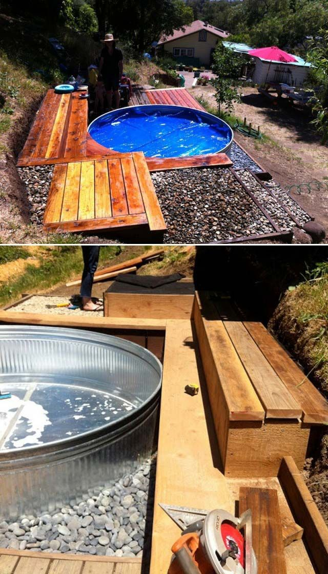 Stock Tank Pools Let You Stay Cool 20 Diy Stock Tank Pool Ideas In 2020 Stock Tank Stock Tank Pool Diy Galvanized Stock Tank