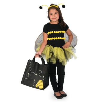 DIY Bee Girl's Halloween Costume